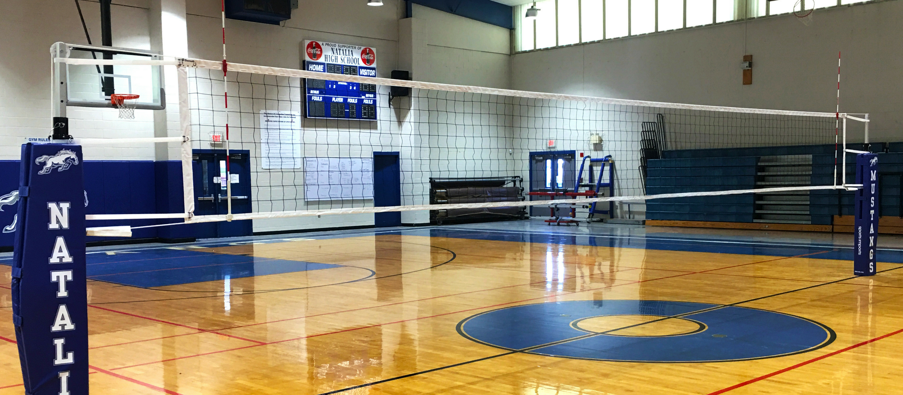 Indoor Aluminum Volleyball Net Systems Sports Imports