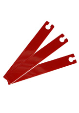 Vertec-Acrylic Head Vanes - Red-0