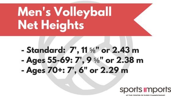 Men's Volleyball Net Heights
