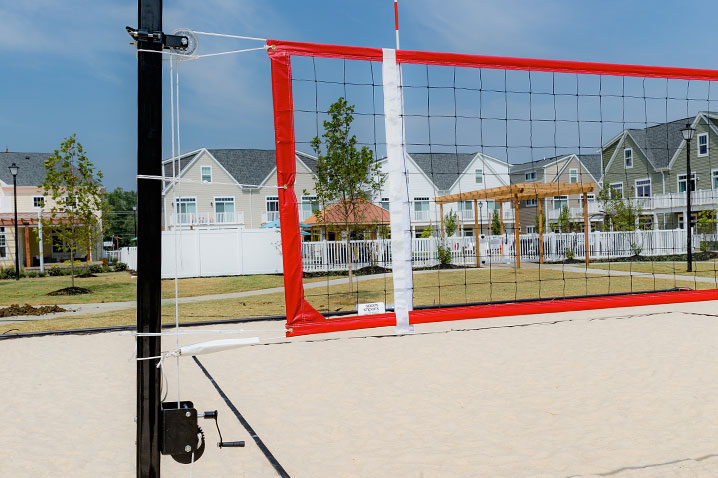 Pr1 Beach Volleyball Net System Parks Amp Rec Volleyball Poles