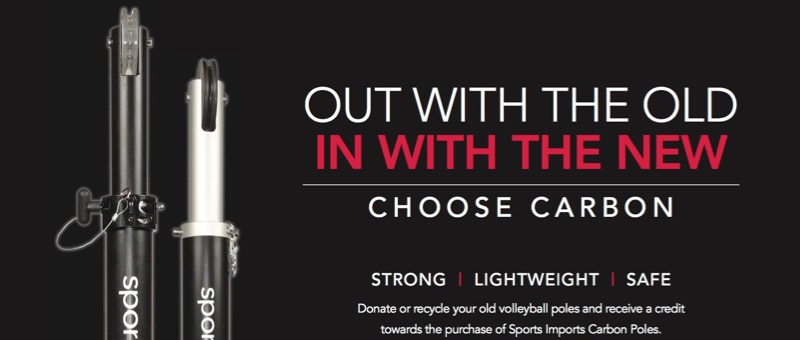 Donate or recycle your old volleyball poles and receive a credit towards the purchase of the SI-1 or C0-8.  Contact your Regional Representative for details.