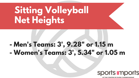 Sitting Volleyball Net Heights