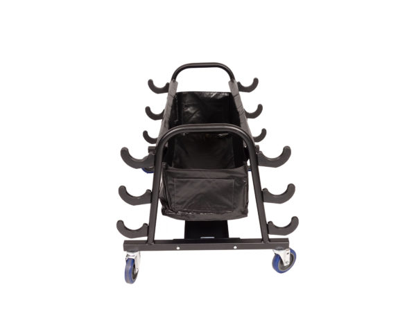 Volleyball Pole Storage Cart (holds 6 poles)-0