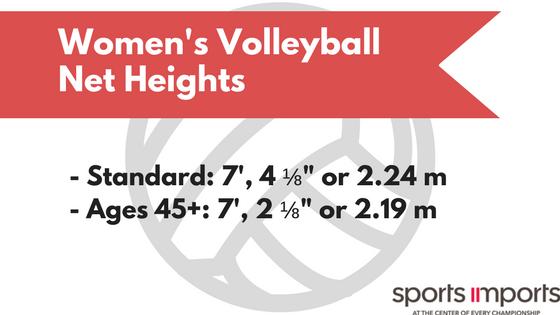 Women's Volleyball Net Heights